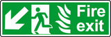 NHS fire exit diagonal down left