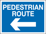 Pedestrian route arrow left