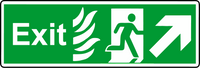 NHS exit diagonal left sign