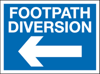 Footpath diversion - arrow left