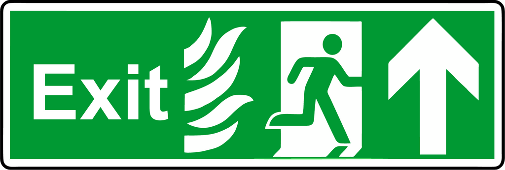 Double Sided Hanging NHS Exit straight sign