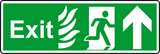 NHS exit straight sign