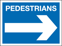 Pedestrians sign - arrow right