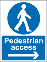 Pedestrian access sign arrow right