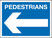 Pedestrians sign - arrow left