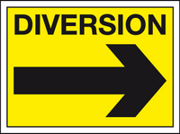 Diversion right sign