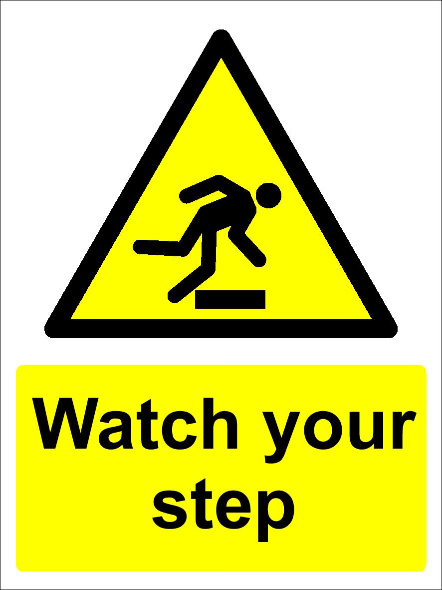 MAINTAIN THREE POINT WARNING SIGN VARIOUS SIZES SIGN /& STICKER OPTIONS