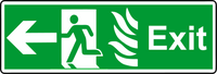 NHS exit left sign