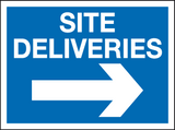 Site deliveries right sign