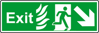 NHS exit down right sign