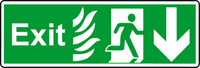 NHS exit down sign