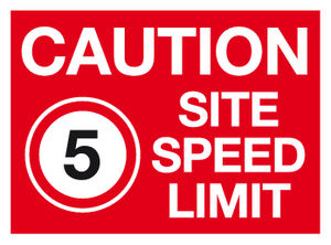 caution site speed limit 5