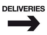 Deliveries arrow right sign