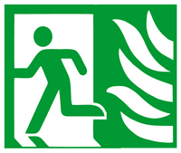 Exit left symbol sign NHS