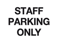 Staff parking only