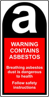 contains asbestos labels