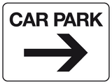 Car park - arrow right sign