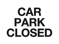 Car park closed sign