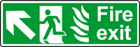 NHS fire exit diagonal left