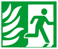Exit right symbol sign NHS