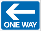 One way - arrow left sign