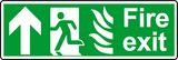 NHS fire exit straight sign