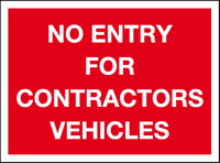 No entry for contractor vehicles sign