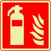 fire extinguisher photoluminescent sign