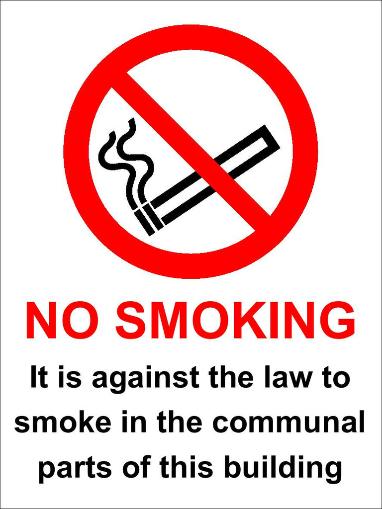 No smoking in communal parts of the building