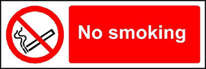 No smoking window fixing sticker