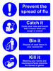 Prevent the spread of flu sign
