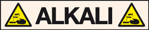 Alkali pipeline labels