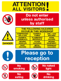 visitors safety sign