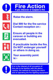 Fire action notice for caravans