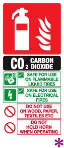 Carbon dioxide id sign