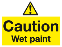 Caution Wet paint sign - MJN Safety Signs Ltd