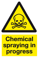 Chemical spraying in progress sign - MJN Safety Signs Ltd