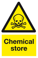 Chemical store sign - MJN Safety Signs Ltd