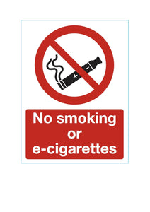No e-cigarettes sign
