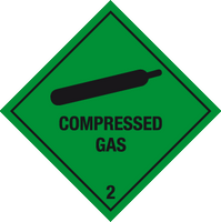 Compressed gas label - MJN Safety Signs Ltd