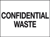 Confidential Waste sign - MJN Safety Signs Ltd