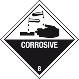 Corrosive label - MJN Safety Signs Ltd