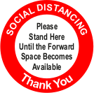 Social Distancing please stand here floor graphic sign