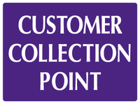 Customer collection point sign