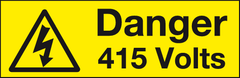 1 x Danger 415 Volts label 100 x 35mm