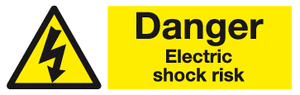 Danger Electric shock risk sign