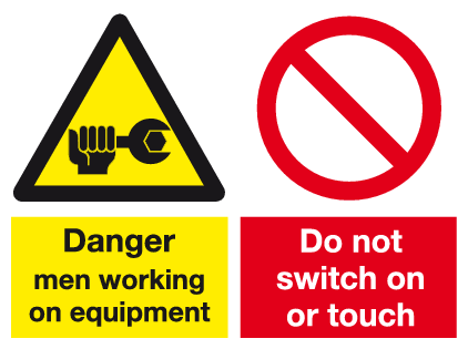 Combi Danger and do not switch sign