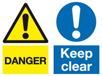 Danger Keep Clear sidebyside multi purpose sign