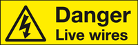 Danger Live Wires labels