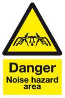 Danger Noise hazard area sign